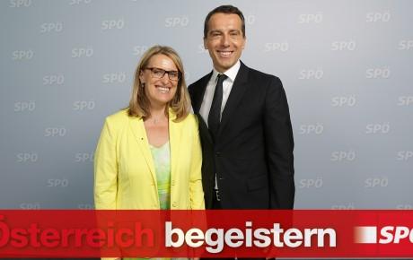 Ulrike Königsberger-Ludwig und Christian Kern